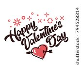 happy valentines day greeting... | Shutterstock .eps vector #794528314