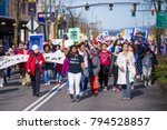 Small photo of Reclaim MLK Freedom and Unity March in Portland OR, USA, on January 15th, 2018.