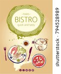 design fast food menu parlor ... | Shutterstock .eps vector #794528989