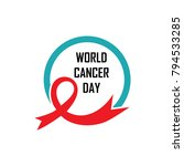 word cancer day illustration... | Shutterstock .eps vector #794533285