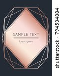 vector modern design template... | Shutterstock .eps vector #794534884