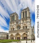 notre dame cathedral   paris | Shutterstock . vector #79454248