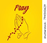 pray word  praying hands ...