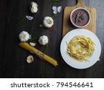 fettuccine with bolognese sauce ...   Shutterstock . vector #794546641
