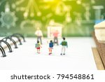 miniature people  master and... | Shutterstock . vector #794548861