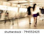 rush hour peolpe | Shutterstock . vector #794552425