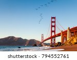 the golden gate bridge is a... | Shutterstock . vector #794552761