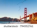 the golden gate bridge is a... | Shutterstock . vector #794552761