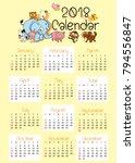 Animal Calendar For 2018