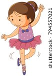 girl in pink ballet outfit on... | Shutterstock .eps vector #794557021