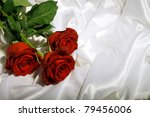 red roses with green leaves... | Shutterstock . vector #79456006