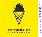 ice cream on cone bright yellow ...