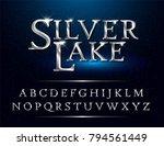 Set Of Elegant Silver Colored...