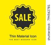 sale sticker bright yellow...