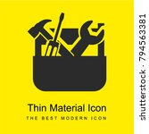toolbox bright yellow material... | Shutterstock .eps vector #794563381