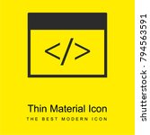 html tag bright yellow material ... | Shutterstock .eps vector #794563591