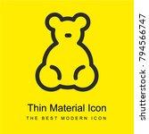 baby bear toy bright yellow...