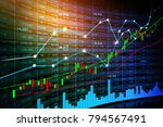 stock market or forex trading... | Shutterstock . vector #794567491