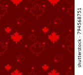 a seamless canadian pattern in... | Shutterstock .eps vector #794568751
