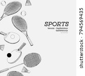 set of sports hand draw sketch... | Shutterstock .eps vector #794569435