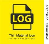 log file format bright yellow...