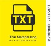 txt file symbol bright yellow...