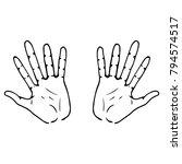 palm icon. vector illustration... | Shutterstock .eps vector #794574517