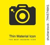 photo camera bright yellow...