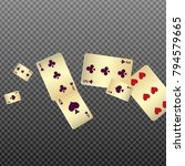 playing cards falling on... | Shutterstock .eps vector #794579665