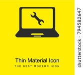 laptop bright yellow material...