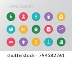set of 15 editable agriculture...