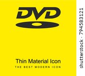 dvd rom logotype bright yellow...