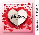 happy valentine's day... | Shutterstock .eps vector #794587201