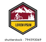 mountain bike vintage badge... | Shutterstock .eps vector #794593069