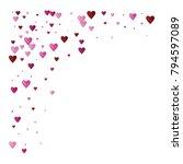 valentines day vector confetti... | Shutterstock .eps vector #794597089