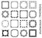 set of frames for programs ...   Shutterstock .eps vector #794598241
