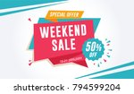 weekend sale special offer... | Shutterstock .eps vector #794599204
