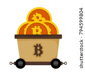 bitcoin mining railroad cart... | Shutterstock .eps vector #794599804