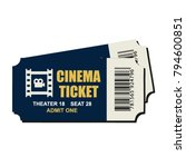 two cinema vector tickets... | Shutterstock .eps vector #794600851