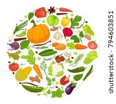 vegetables healthy food poster... | Shutterstock .eps vector #794603851