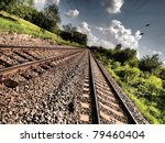 Double Railroad Track With Hdr...