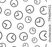 clock timer seamless pattern... | Shutterstock .eps vector #794604421