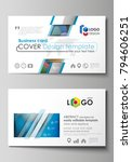 business card templates. easy... | Shutterstock .eps vector #794606251