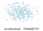 light blue vector pattern with... | Shutterstock .eps vector #794608774
