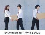 japanese businessmen and... | Shutterstock . vector #794611429