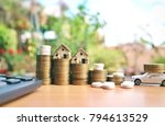 miniature houses and white... | Shutterstock . vector #794613529