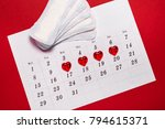 menstruation. pads liners and...   Shutterstock . vector #794615371