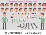 flat vector guy character for... | Shutterstock .eps vector #794616199