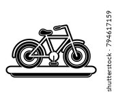 vintage bicycle symbol | Shutterstock .eps vector #794617159