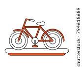 vintage bicycle symbol | Shutterstock .eps vector #794618689